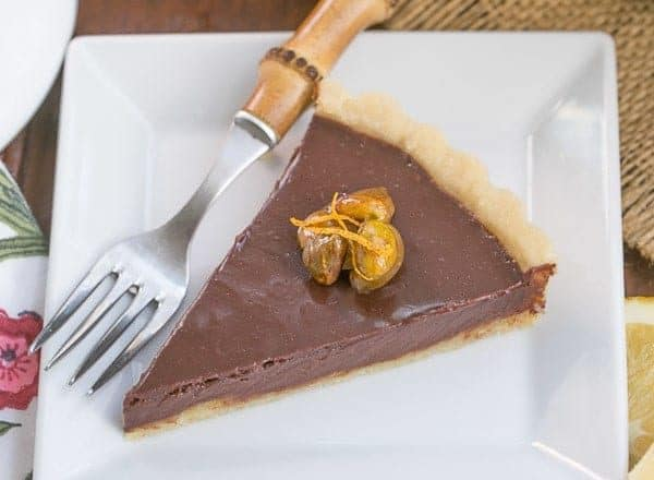Semisweet Chocolate Tart | Semisweet chocolate tart with a buttery crust and a touch of Grand Marnier