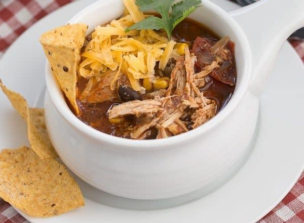 Slow Cooker Chicken Enchilada SoupSlow Cooker Chicken Enchilada Soup | A spicy, comforting Tex-Mex soup