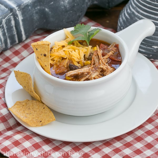 Slow Cooker Chicken Enchilada SoupSlow Cooker Chicken Enchilada Soup | A spicy, comforting Tex-Mex soup