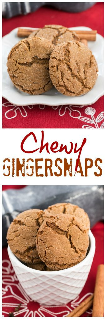 Chewy Gingersnaps | Soft, crinkled cookies spiced with ginger, cinnamon and cloves. Perfect for the holidays!