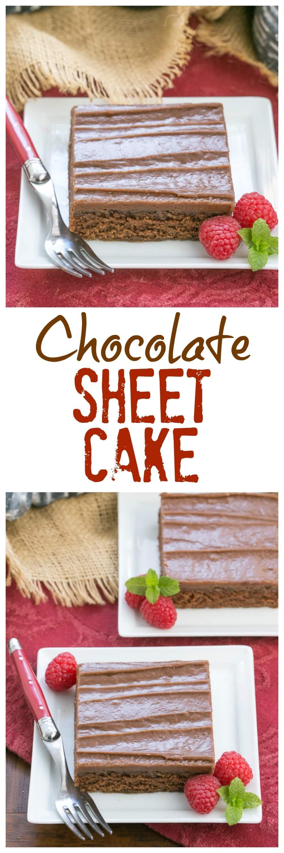 Chocolate Sheet Cake | A scrumptious dessert for a crowd