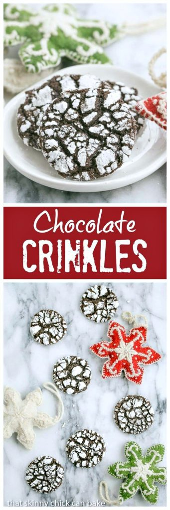 Festive, fudgy Chocolate Crinkles | Perfect chocolate cookie to soothe those cravings!