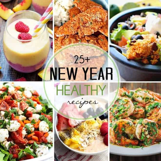 Healthy Recipes for the New Year picture collage
