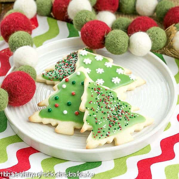 Best Sugar Cookies on a round white plate