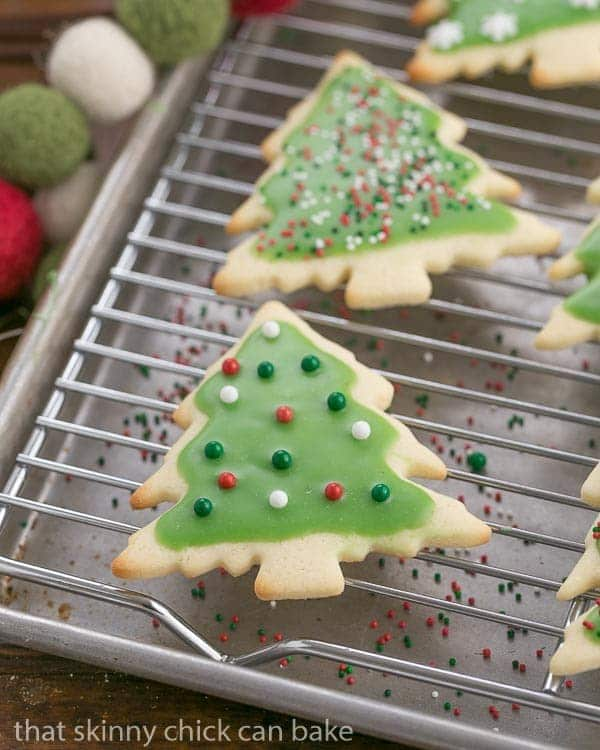 Best Sugar Cookies on a cooling rack