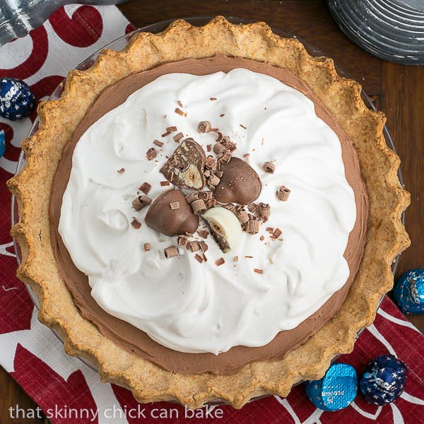 Frangelico French Silk Pie | A decadent, luscious chocolate pie with a Frangelico twist!