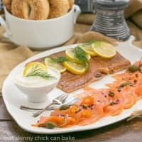 Smoked Salmon Platter | An easy , no recipe needed dish to serve for breakfast, lunch or as an appetizer