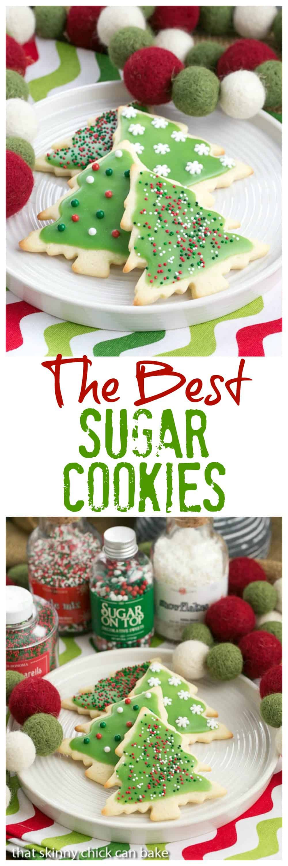 Best Sugar Cookies - Perfect cut-out cookies for all holidays and celebrations #cookies #holidaycookies #sugarcookies