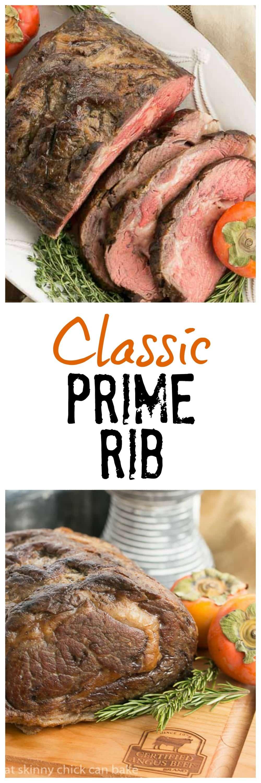Classic Prime Rib   Perfect roasting technique for rare prime rib