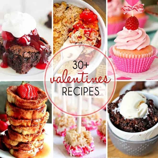 A marvelous round up of 30+ Valentine's Day Recipes