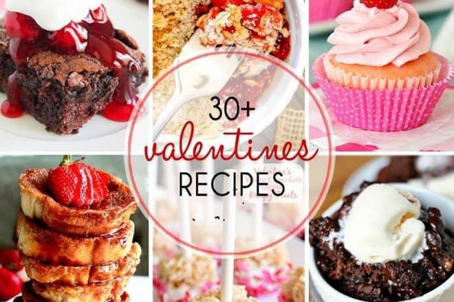 Valentine's Day Recipes photo collage