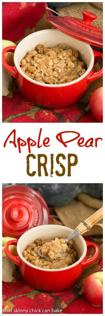 Apple Pear Crisp | A delectable pairing of fruit with an oatmeal crisp topping