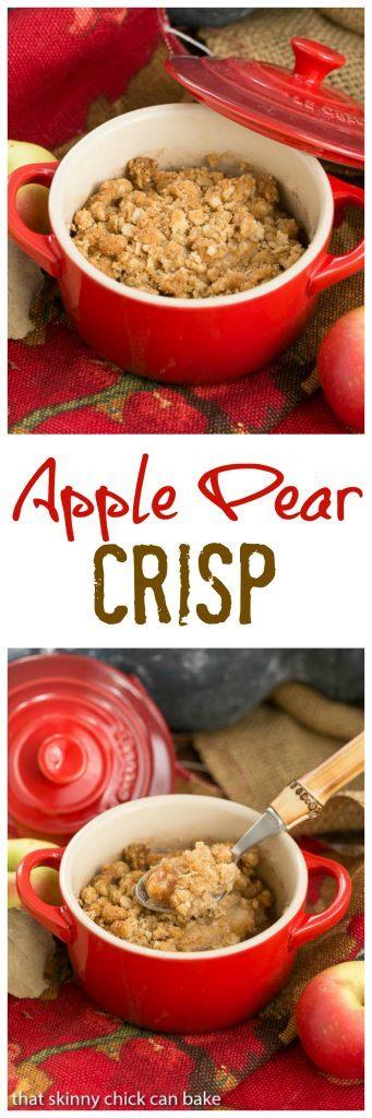 Apple Pear Crisp image collage