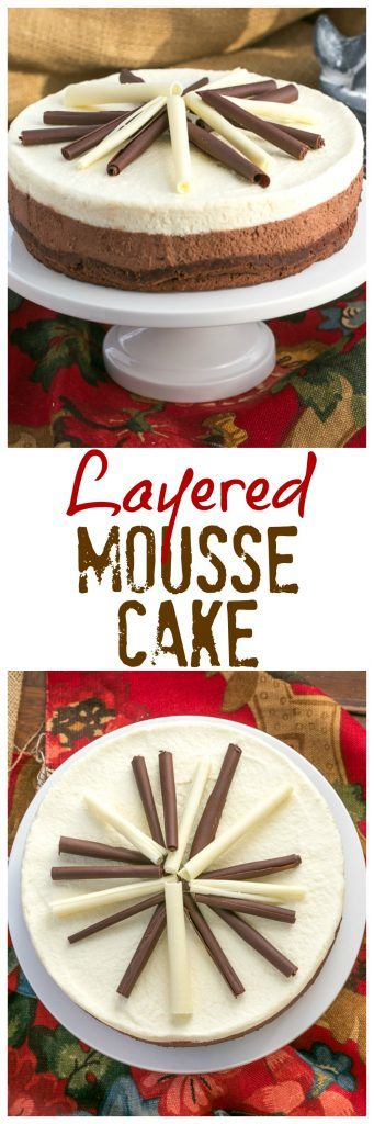 Layered Mousse Cake | An exquisite triple-layered mousse cake that's perfect for the chocoholics in your life!