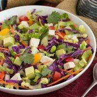 Thai Salad | A vibrant, crunchy salad with a peanut dressing
