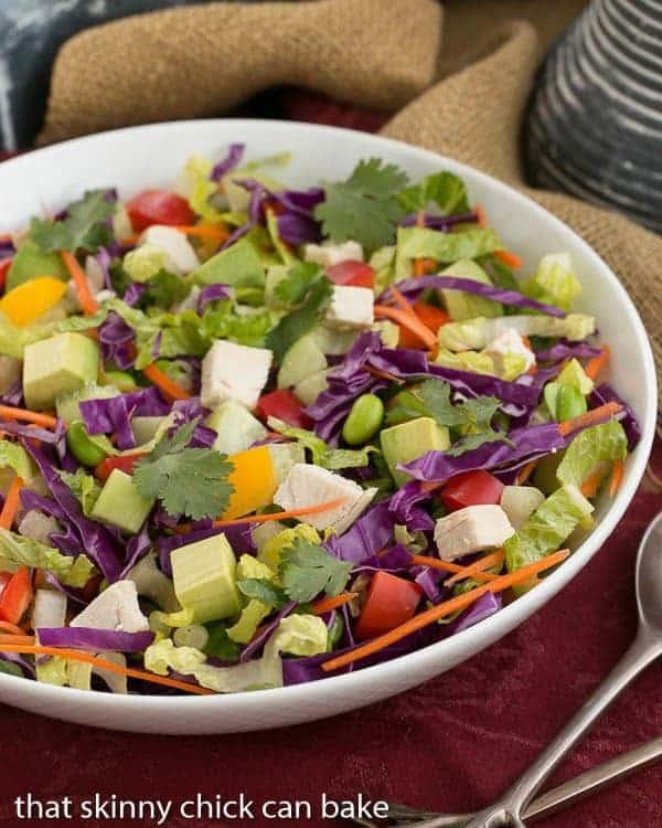 A vibrant, crunchy Thai salad with a peanut dressing