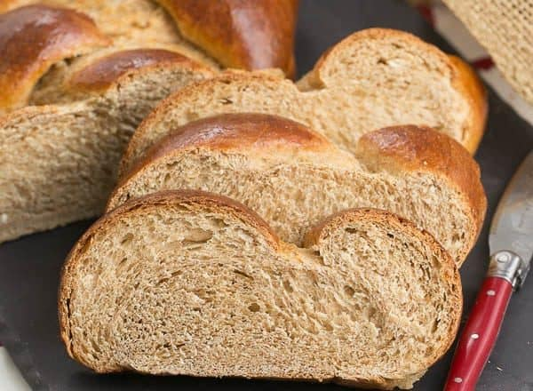 Whole Wheat Challah   Eggy, tender with the bonus of whole wheat!