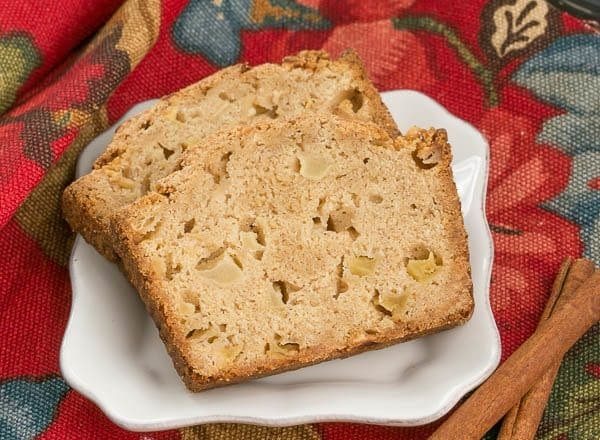 Apple Bread - This moist, cinnamon spiced apple bread is perfect for snacking, breakfast or brunch!