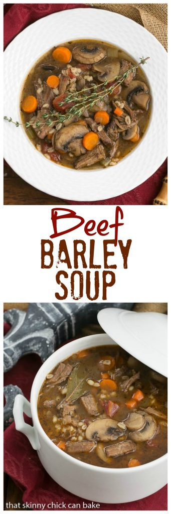 Homemade Beef Barley Soup | A hearty, comforting soup!!!