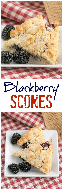 Fresh Blackberry Scones with Cream - Moist, scrumptious and packed full of berries #berries #scones #teatime #breakfast