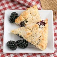 Blackberry Scones - Moist, scrumptious and packed full of berries