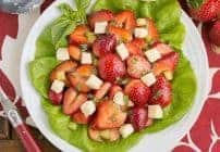 Basil, Brie and Strawberry Salad #SundaySupper #FLStrawberry