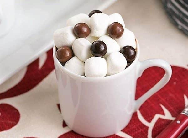 Italian Hot Chocolate in a white ceramic mug