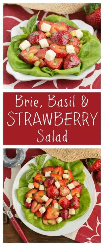 Brie Basil and Strawberry Salad | A simple, unforgettable combination!