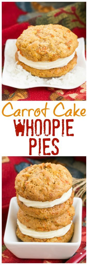 Carrot Cake Whoopie Pies | All the magnificent flavors of carrot cake in these fabulous whoopie pies