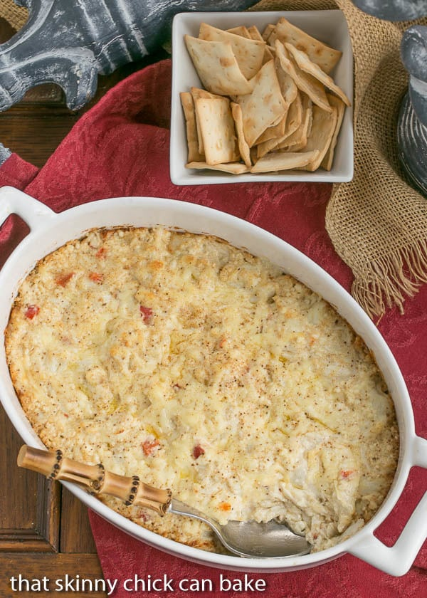 Cheesy Crab Dip | Lump crab makes this an elegant, amazing appetizer