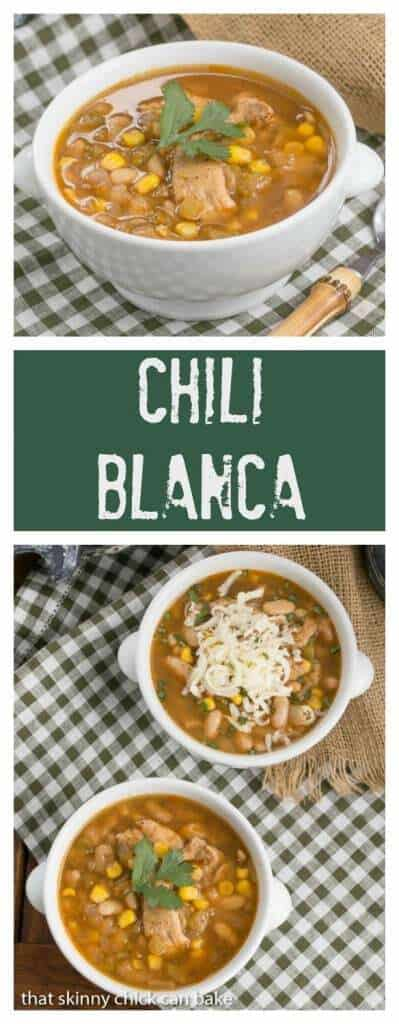 Chili Blanca | Hearty, healthy and delicious white chicken chili
