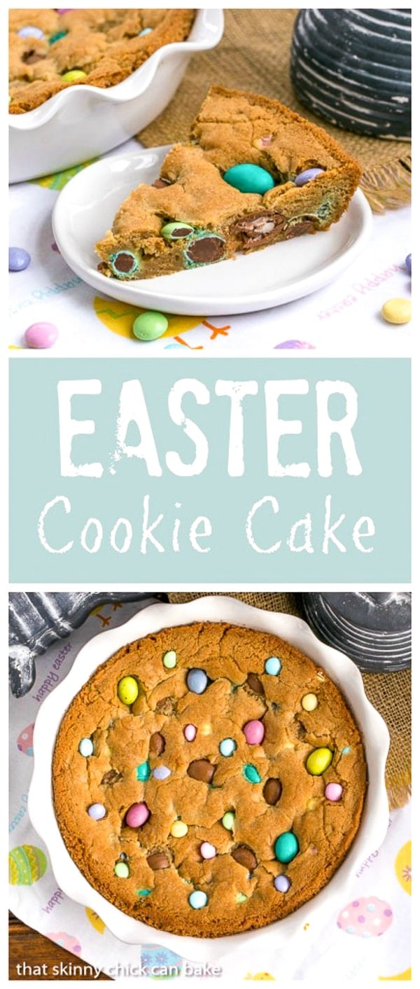 Easter Cookie Cake - That Skinny Chick Can Bake