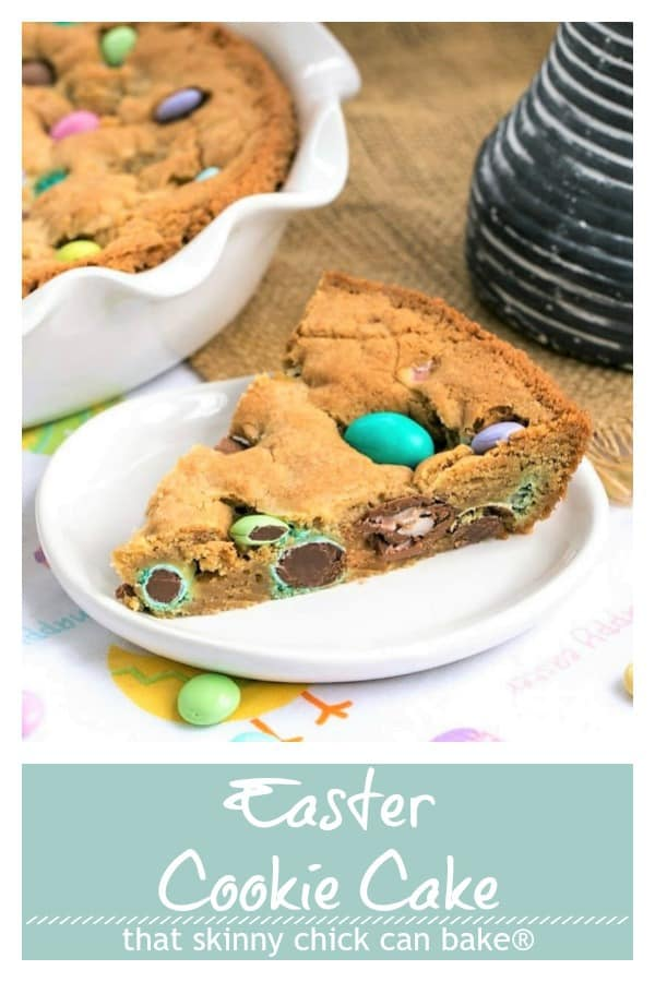 Easter Cookie Cake Pinterest text and photo collage