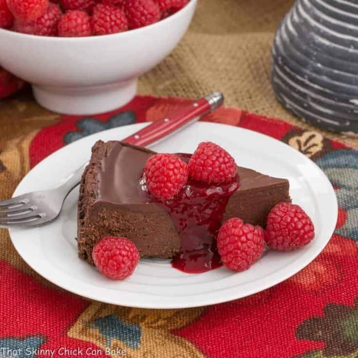 Flourless Chocolate Torte with Raspberry Sauce