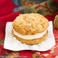 Carrot Cake Whoopie Pies - All the magnificent flavors of carrot cake in these fabulous whoopie pies