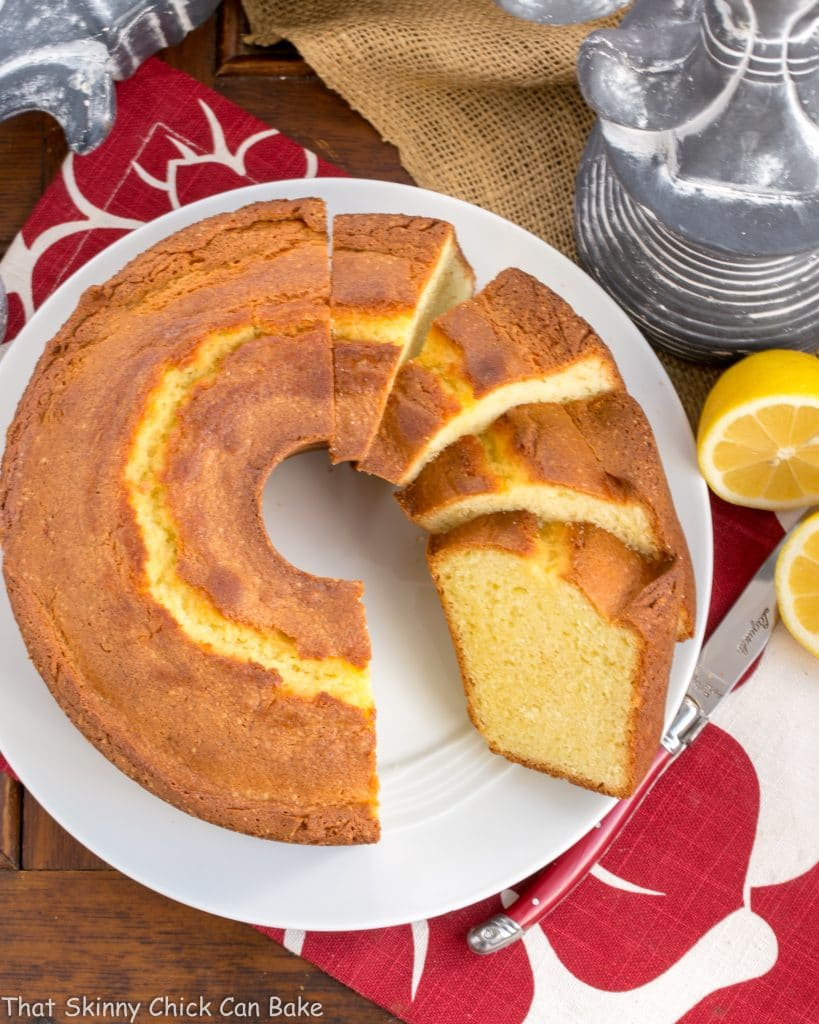 Greek Lemon Bundt Cake - a dreamy citrus cake with a moist, tender crumb!