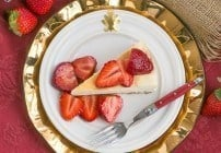 Mascarpone Cheesecake with Balsamic Strawberries