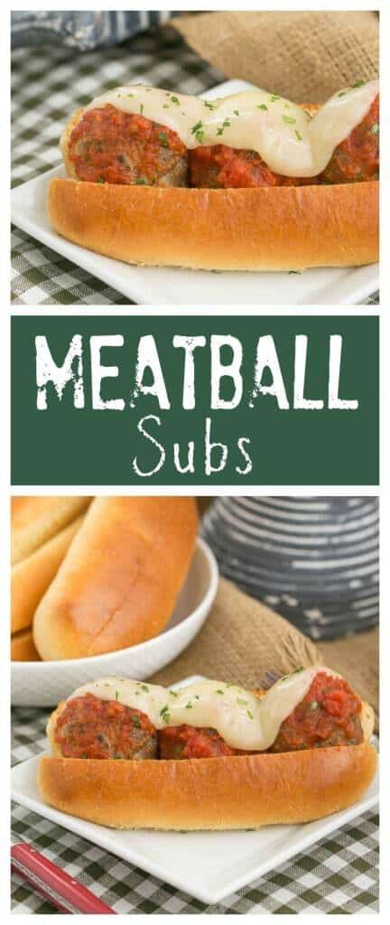 Meatball Subs | A marvelous sandwich filled with plump meatballs, marinara and melted Provalone