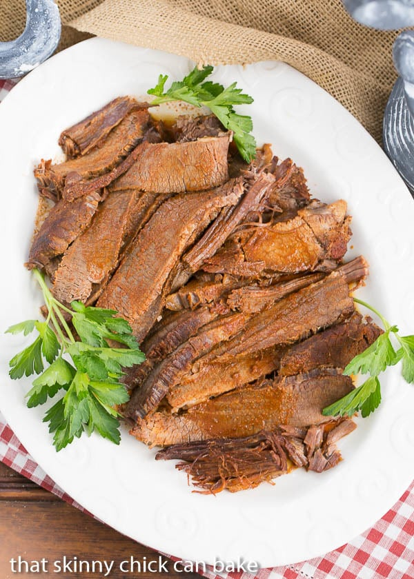 Oven Braised Texas Brisket | So you can have the taste of Texas BBQ all year 'round!