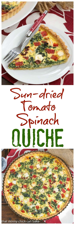 Sun-dried Tomato and Spinach Quiche - A memorable Mediterranean Quiche