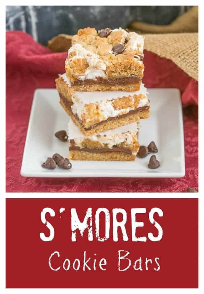 S'mores Cookie Bars | All the deliciousness of s'mores without the campfire!