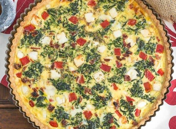 Sun-dried Tomato and Spinach Quiche | A memorable Mediterranean Quiche