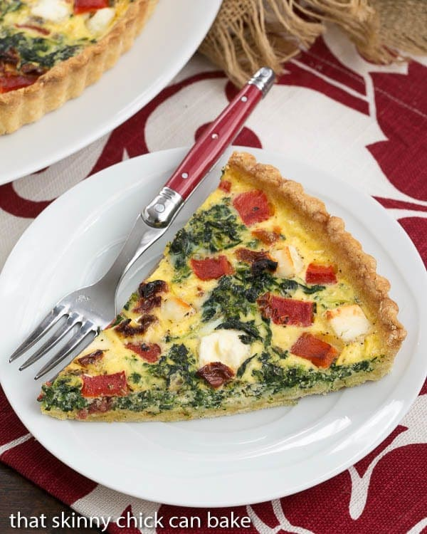 Sun-dried Tomato and Spinach Quiche | A memorable Mediterranean Quiche