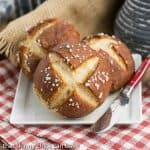 Homemade Pretzel Rolls #ProgressiveEats