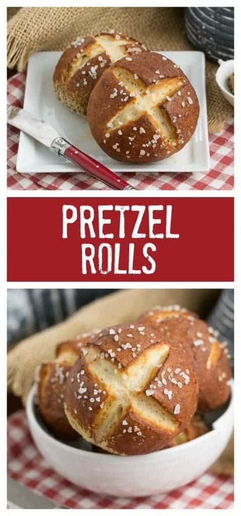 Pretzel Rolls | Chewy yeast rolls with all the fabulous flavor of a pretzel!