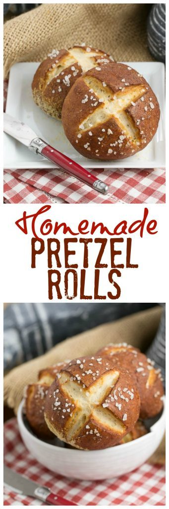 Pretzel Rolls   Chewy yeast rolls with all the fabulous flavor of a pretzel!