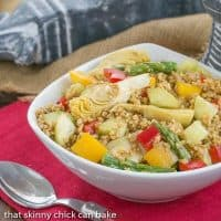 Spring Freekeh Salad | An ancient grain with vibrant vegetables and a simple vinaigrette