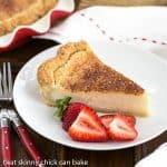 Hoosier Sugar Cream Pie -A classic dessert in Indiana made with sugar, cream and vanilla!