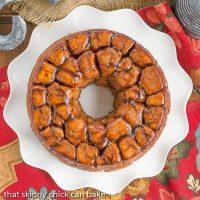Cinnamon Bubble Roll |Tender yeast dough balls enveloped in cinnamon spiced caramel