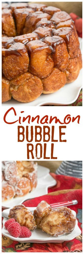 Cinnamon Bubble Roll | Tender yeast dough balls enveloped in cinnamon spiced caramel